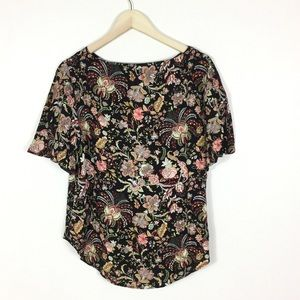 Dark floral blouse size 10 NWT
